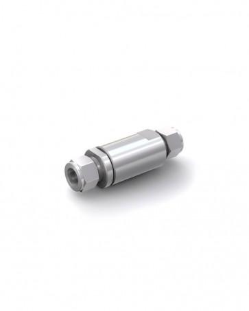 Válvula antirretorno acero inox - tubo Ø 16 mm / tubo Ø 16 mm - máx. 250 bar - DN 14 mm