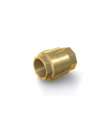 "Válvula antirretorno latón - G1 1/2"" hembra / G1 1/2"" hembra - máx. 25 bar - DN 40 mm"