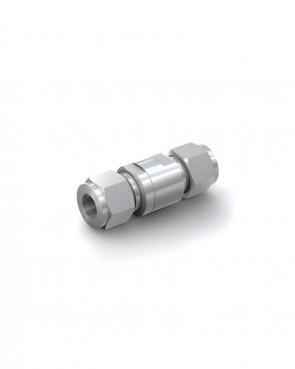Válvula antirretorno acero inox - tubo Ø 12 mm / tubo Ø 12 mm - máx. 150 bar - DN 6 mm