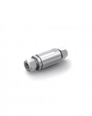 Válvula antirretorno acero inox - tubo Ø 16 mm / tubo Ø 16 mm - máx. 150 bar - DN 14 mm