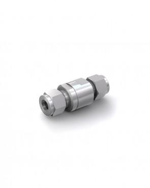 Válvula antirretorno acero inox - tubo Ø 10 mm / tubo Ø 10 mm - máx. 150 bar - DN 6 mm