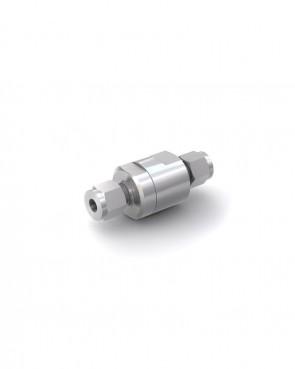 Válvula antirretorno acero inox - tubo Ø 6 mm / tubo Ø 6 mm - máx. 150 bar - DN 5 mm