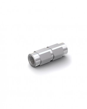 "Válvula antirretorno acero galvanizado - G1/4"" hembra / G1/4"" hembra - máx. 300 bar - DN 6 mm"