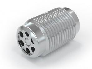 """Válvula antirretorno acero inox - G1/8"""" macho / G 1/8"""" macho - máx. 250 bar - DN 3,6 mm"""